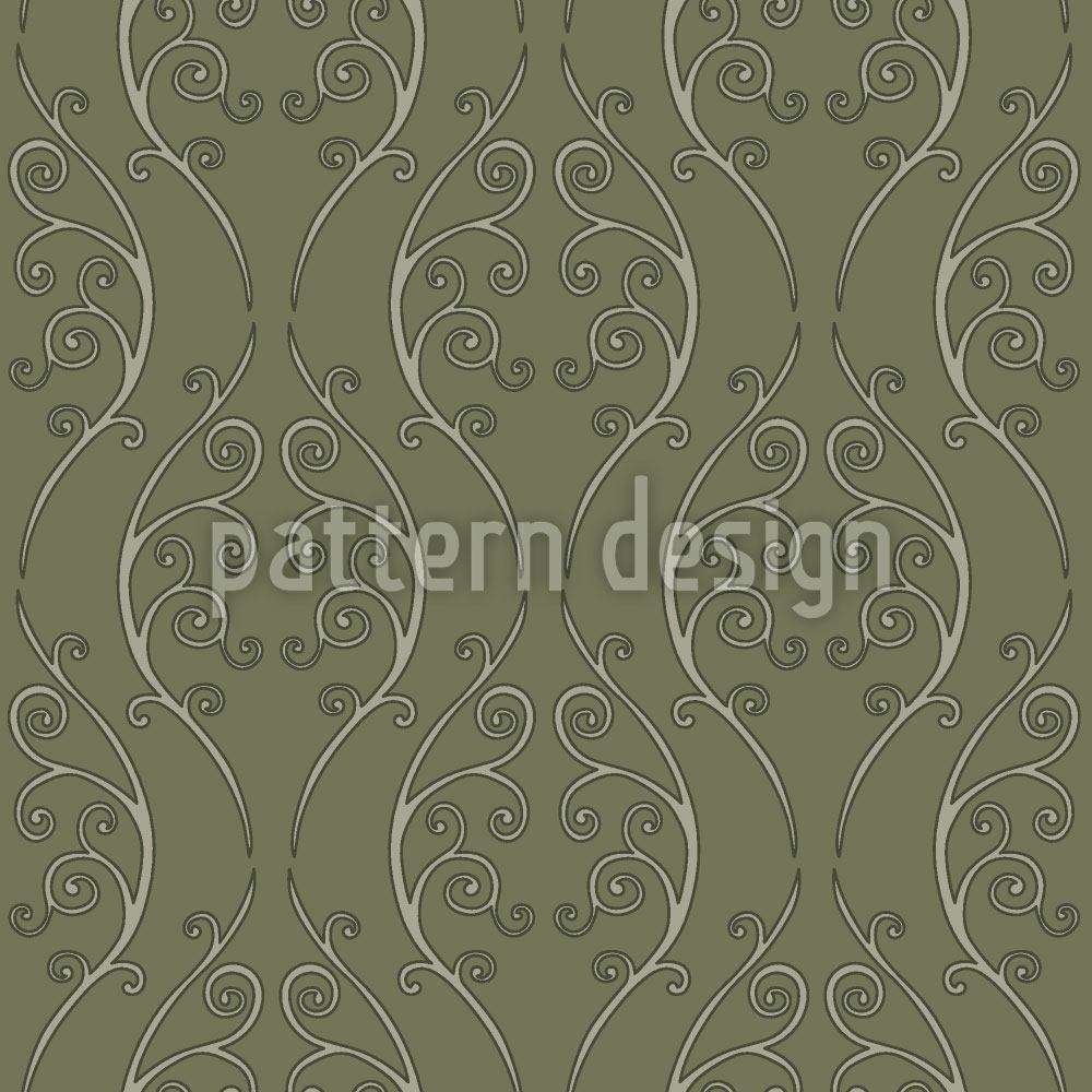 Pattern Wallpaper Green Onlooker