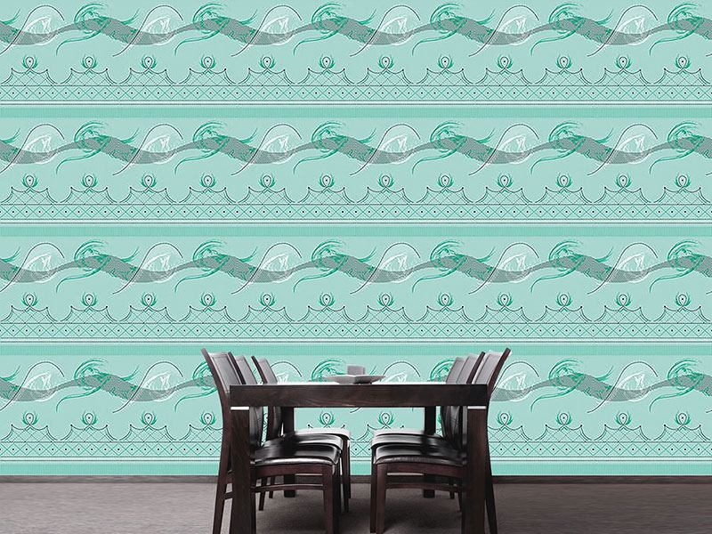 Pattern Wallpaper Moulin Vert