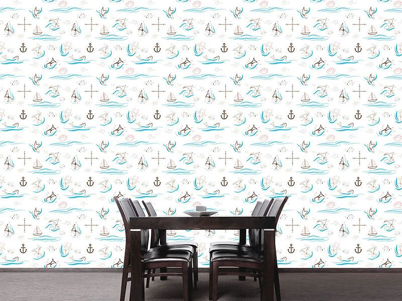 Pattern Wallpaper Whale Watching