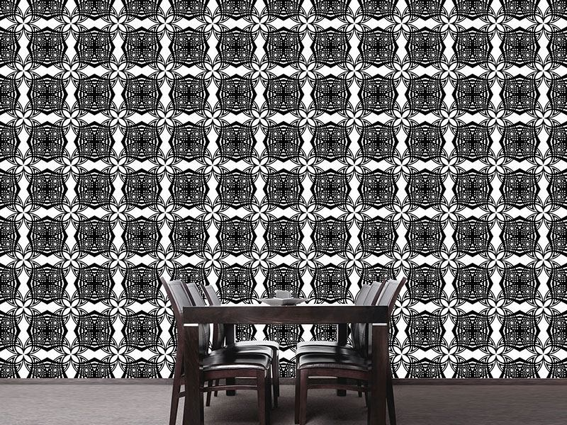 Pattern Wallpaper Black White