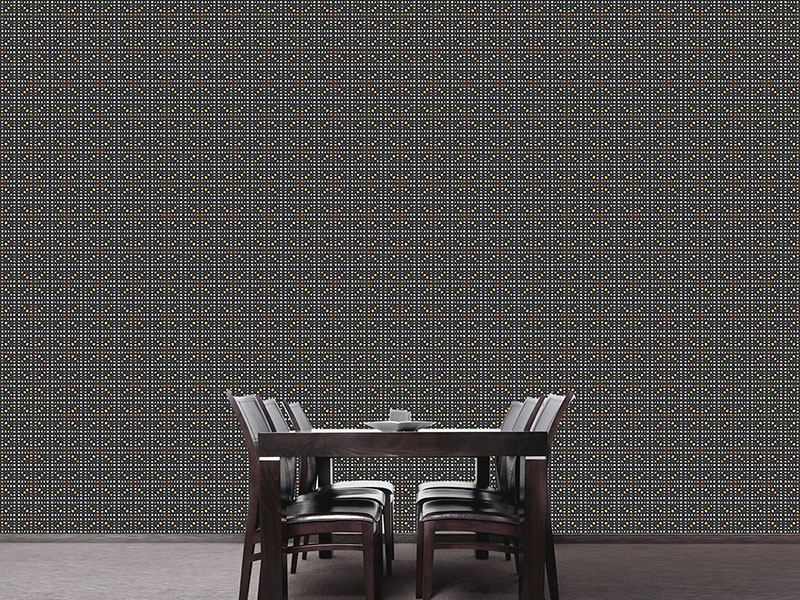 Pattern Wallpaper Bar Braced Black