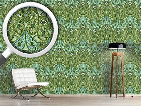 Pattern Wallpaper Paisley Mysterioso