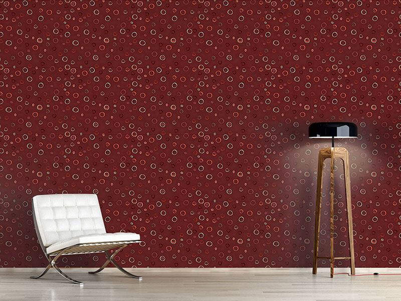 Pattern Wallpaper Circles In Red