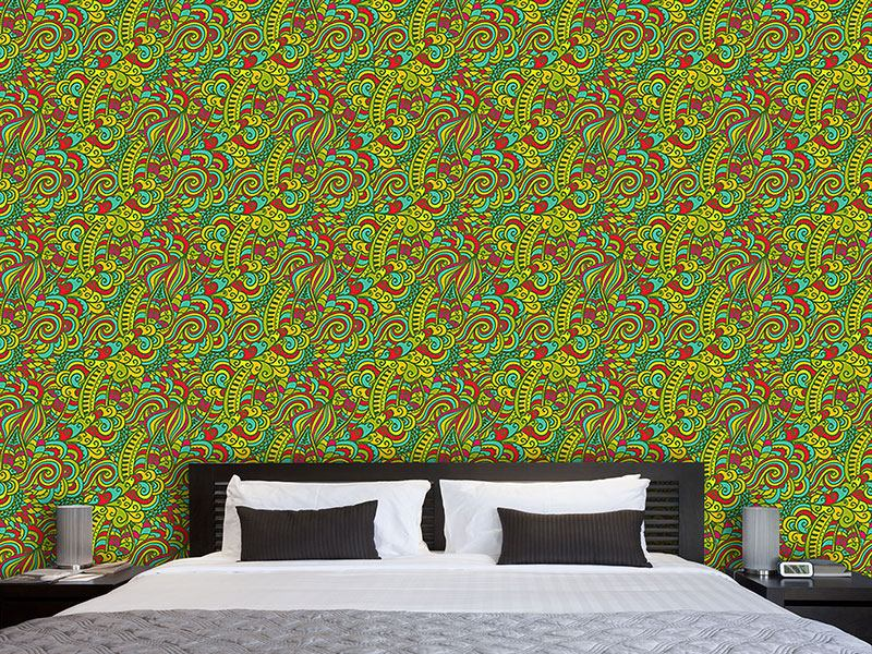 Pattern Wallpaper Lucky Dragon Fantasy