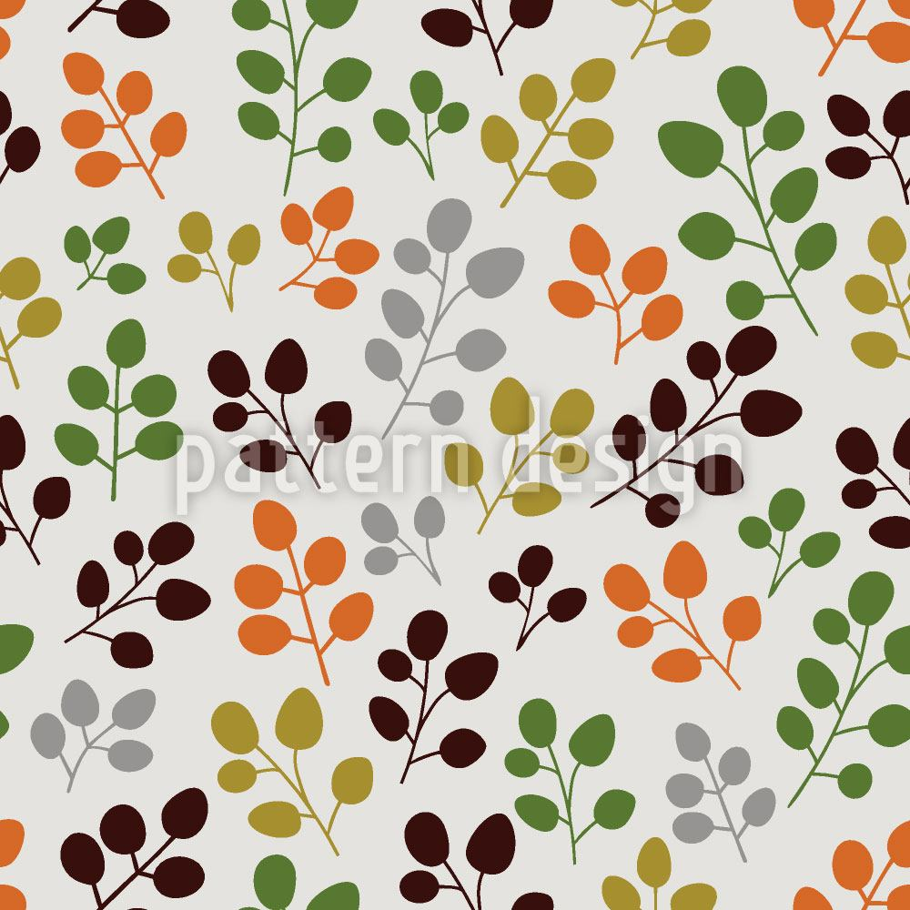 Pattern Wallpaper My Gentle Autumn Leaf