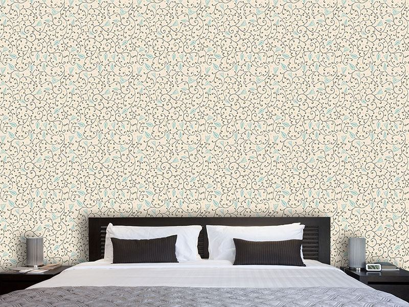 Pattern Wallpaper Floral Softness