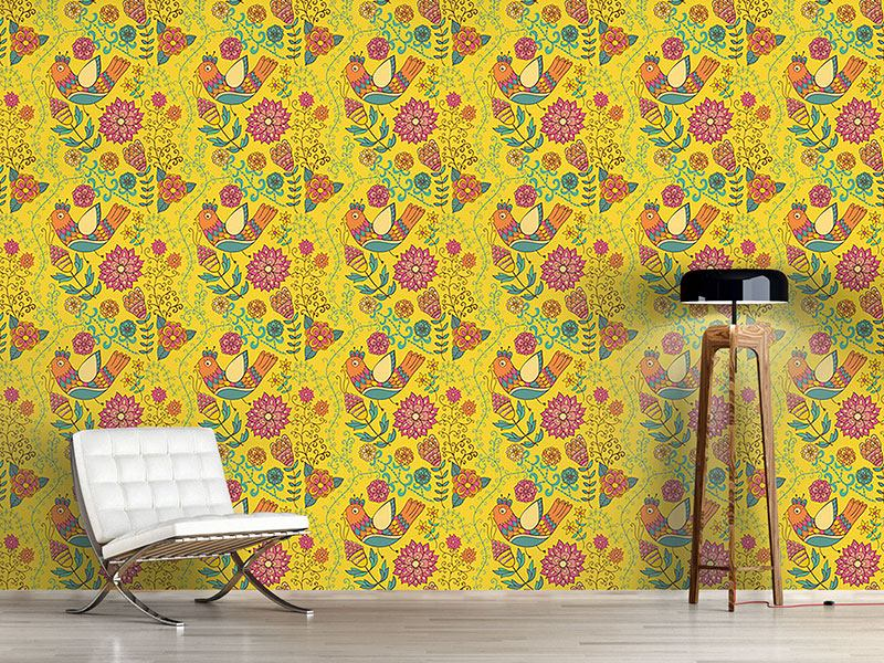 Pattern Wallpaper The Summer Of The Paradise Birds