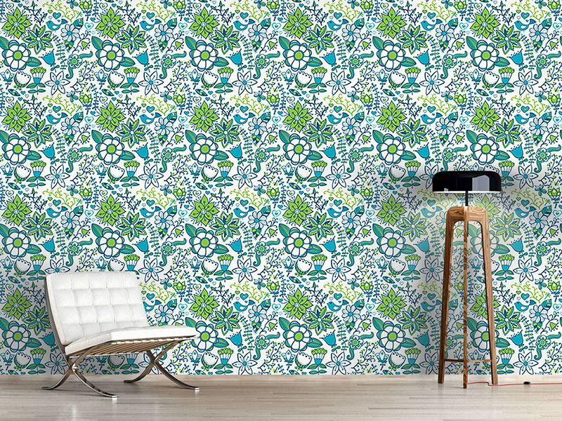 Pattern Wallpaper Cool Paradise Flowers