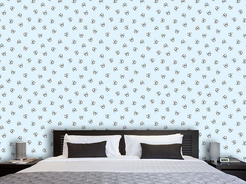 Pattern Wallpaper Heavenly Bows