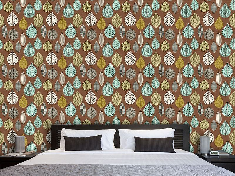 Pattern Wallpaper Scandinavian Leaf Archives