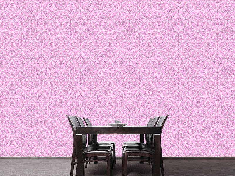 Pattern Wallpaper Baroque Romance