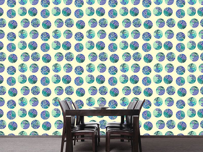 Pattern Wallpaper Rusalkas Flower Circles