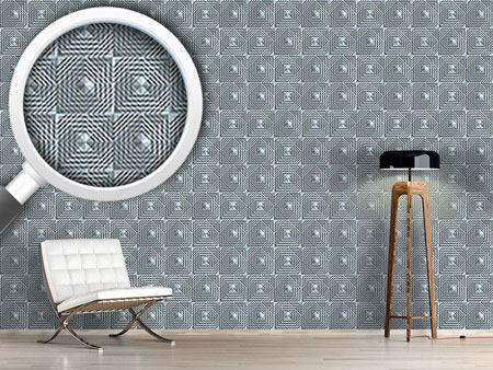 Pattern Wallpaper Square Structure