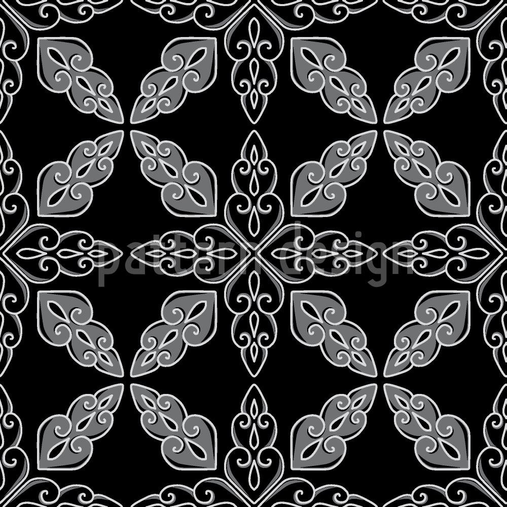 Pattern Wallpaper Moroccan Black