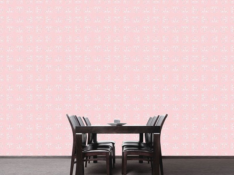 Pattern Wallpaper Corona Rose