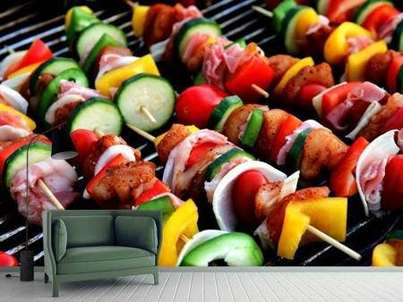 Photo Wallpaper Shashlik skewers