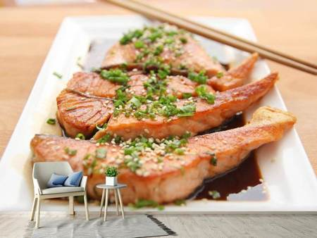 Photo Wallpaper Asian salmon