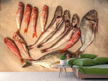 Photo Wallpaper Raw fish 2