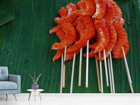 Photo Wallpaper Shrimp kebab