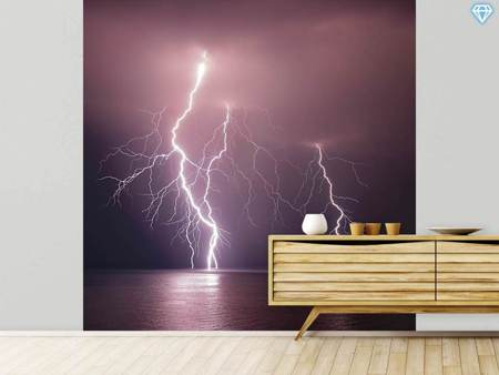 Photo Wallpaper Thunderbolt Over The Sea