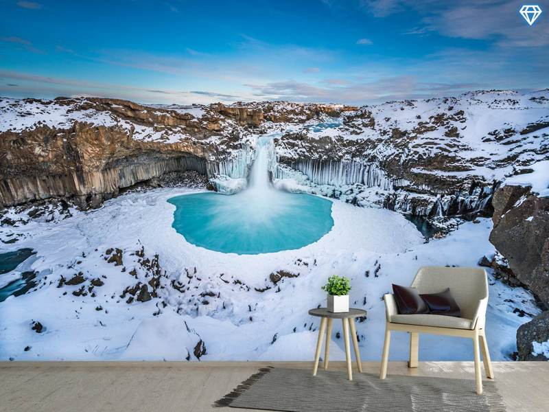 Photo Wallpaper Aldeyjarfoss - The Wide View