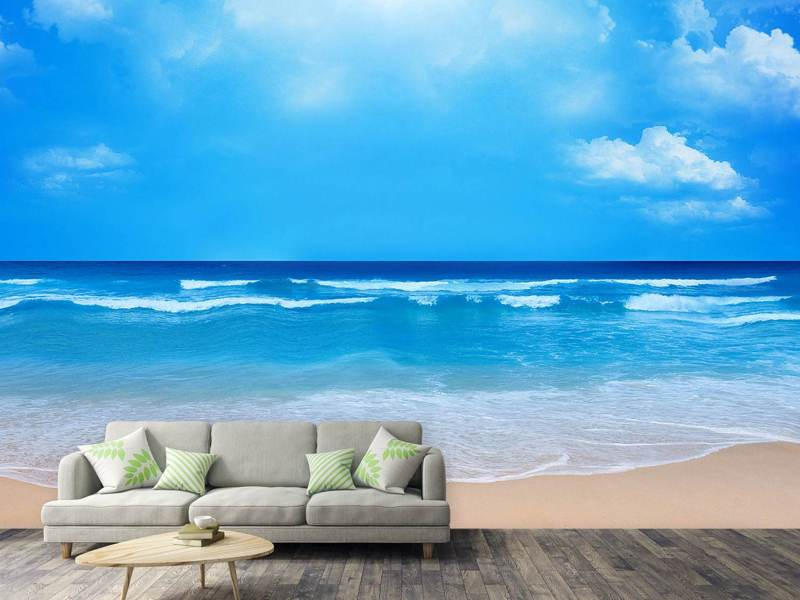 Photo Wallpaper Gentle Beach Waves