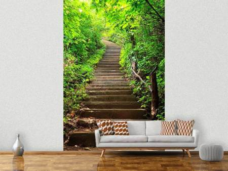 Photo Wallpaper Wood Stairs