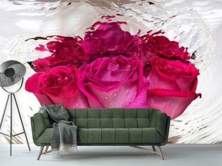 Photo Wallpaper The Rose Reflection