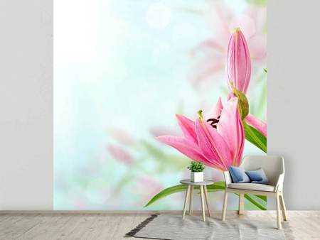 Photo Wallpaper Romantic Lilies